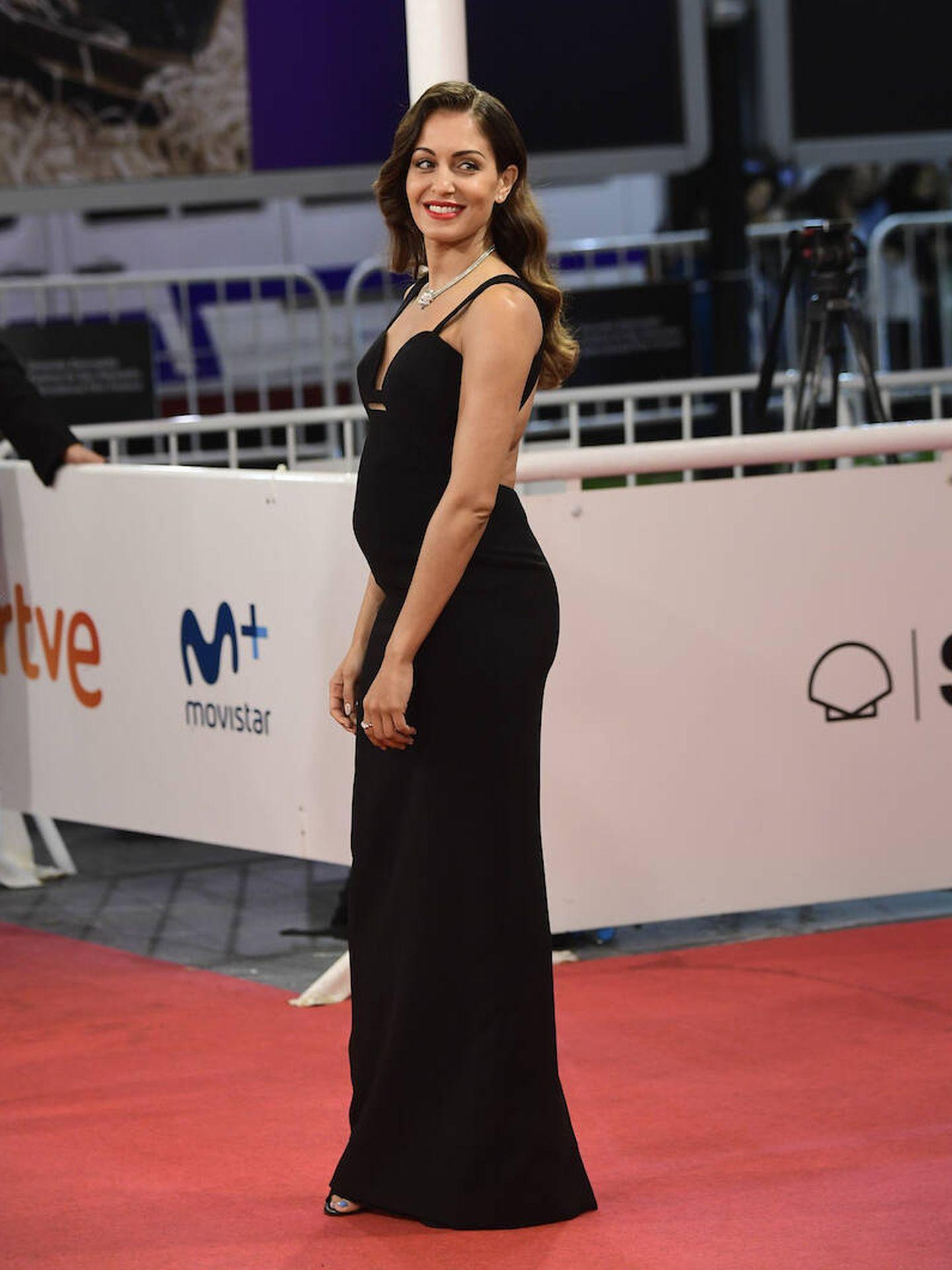 Hiba Abouk, presumiendo de figura en el Festival de Cine de San Sebastián. (Limited Pictures)