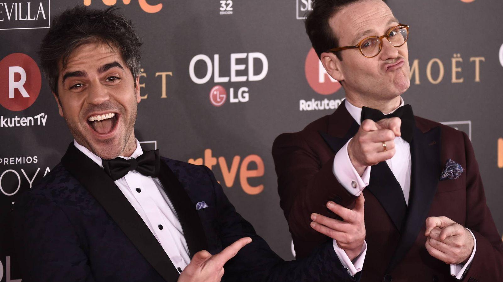 Foto: Ernesto Sevilla y Joaquín Reyes, en los Goya 2018, celebrados este sábado. (EFE)