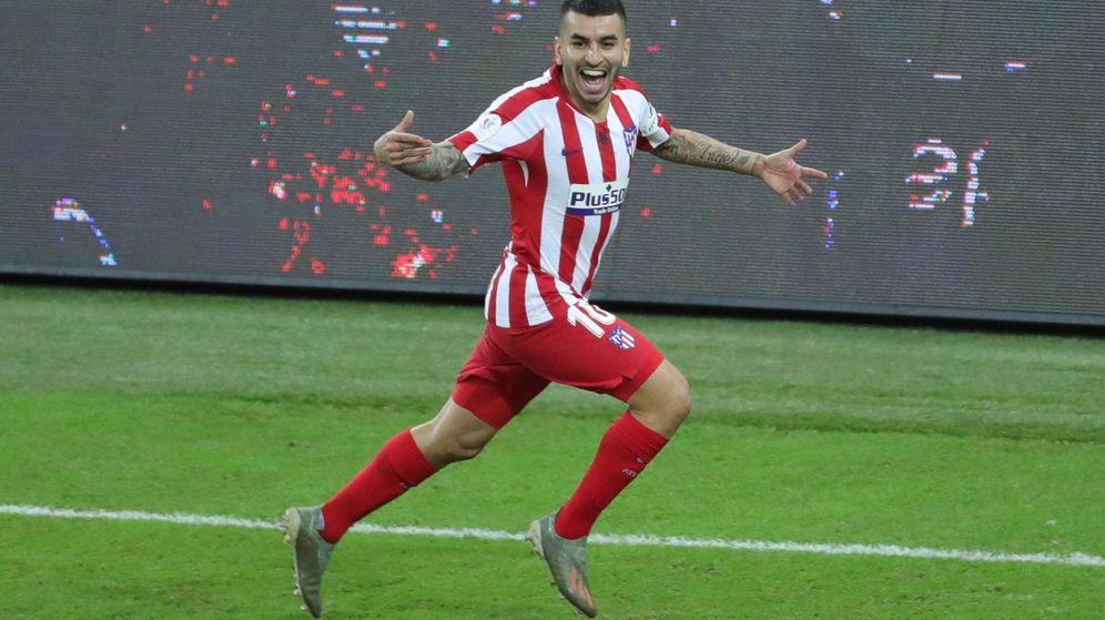 Foto: Ángel Correa marcó el tercer gol del Atlético. (Reuters)