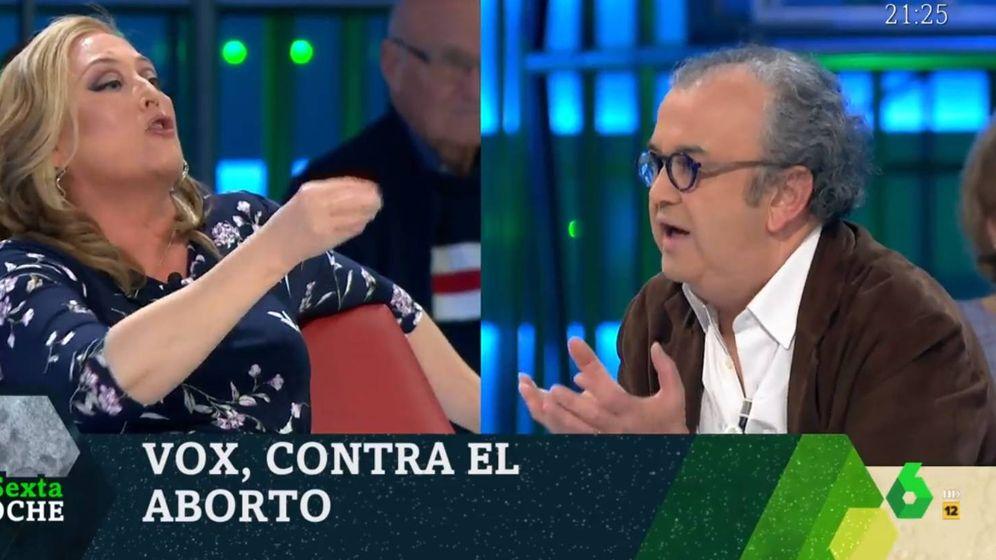Foto: Elisa Beni y José Luis Roig, en 'La Sexta noche'. (Atresmedia).