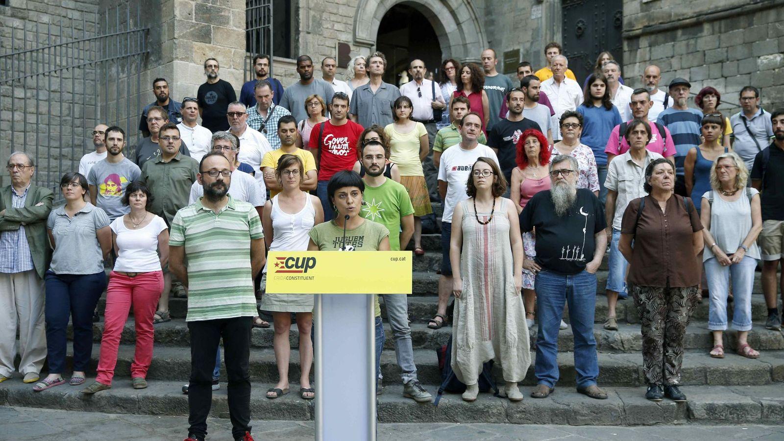 Foto: Miembros de la CUP. (EFE)