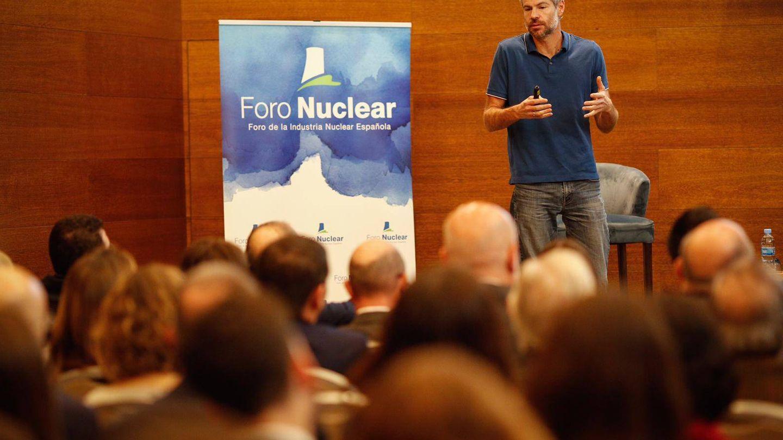Shellenberger, durante la conferencia (Foro Nuclear)