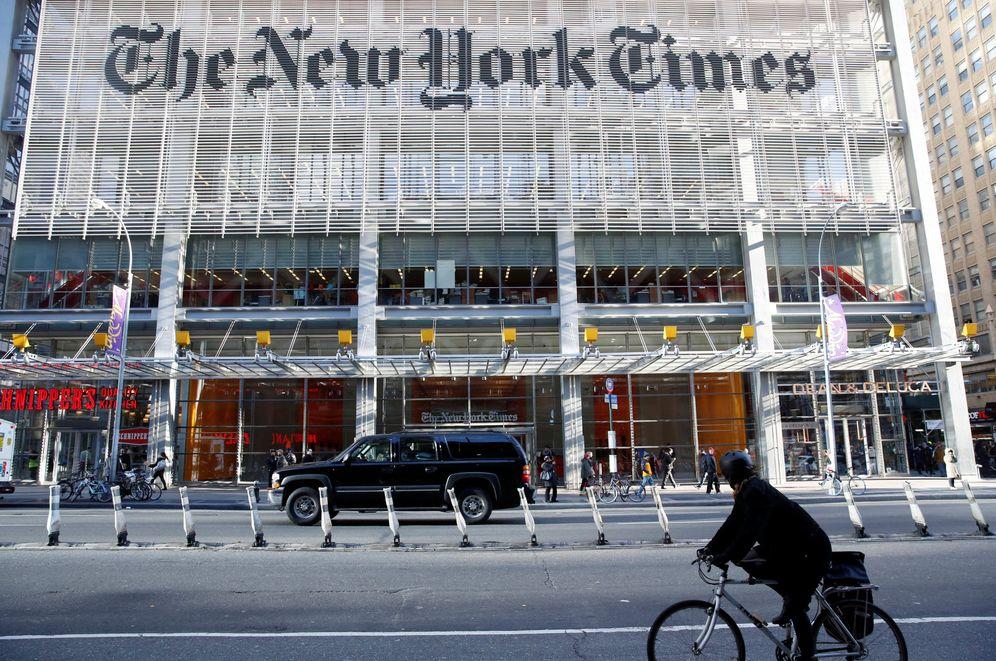 Foto: La caravana del presidente electo Donald Trump llega al edificio del diario The New York Times, el 22 de noviembre de 2016 (Reuters)