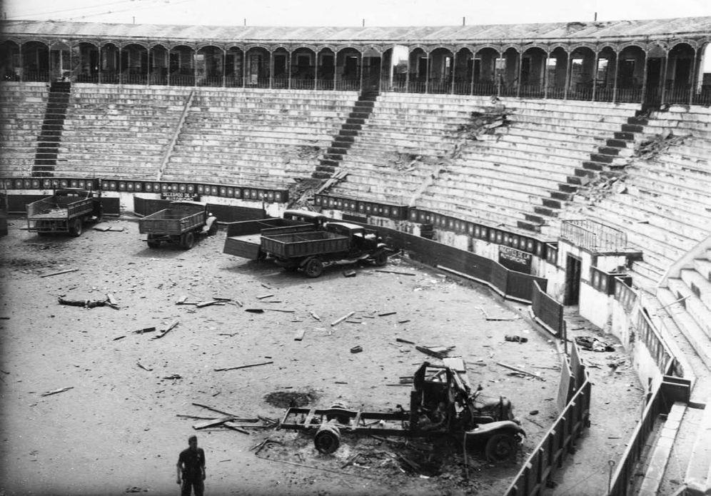 Foto: Plaza de Toros de Badajoz durante la Guerra Civil