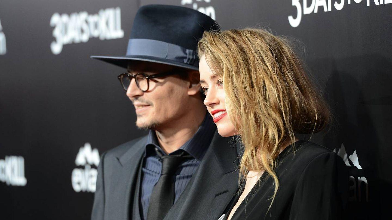 Depp y Heard, cuando aún estaban casados. (Getty)