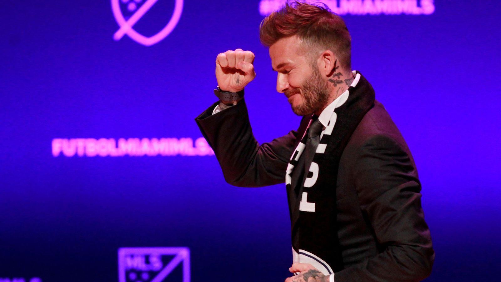 Foto: David Beckham, durante la presentación de su nuevo equipo en la MLS. (Reuters)