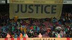 El Barcelona se moja de nuevo y el Camp Nou exige justicia