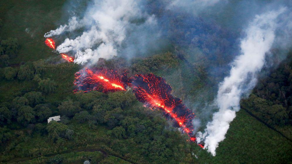 Foto: Lava de un volcán de Hawaii. Foto: Reuters