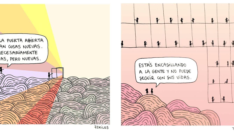 El éxito del dibujante bilbaíno 72kilos: de una apuesta para perder peso a petarlo en la red