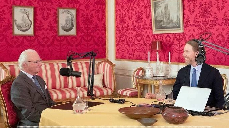 El rey Carlos Gustavo, durante la entrevista. (Casa Real de Suecia)