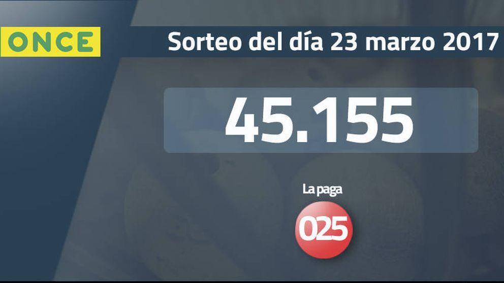 Resultados de la ONCE del 23 marzo 2017: número 45.155