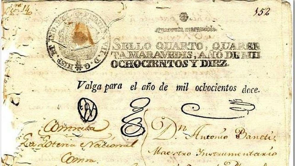 Foto: El documento que acreditaba la innovadora fórmula del nuevo sorteo de la Lotería en Cádiz