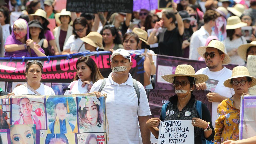 Foto: Marcha silenciosa contra los feminicidios en Ciudad de México. (EFE)