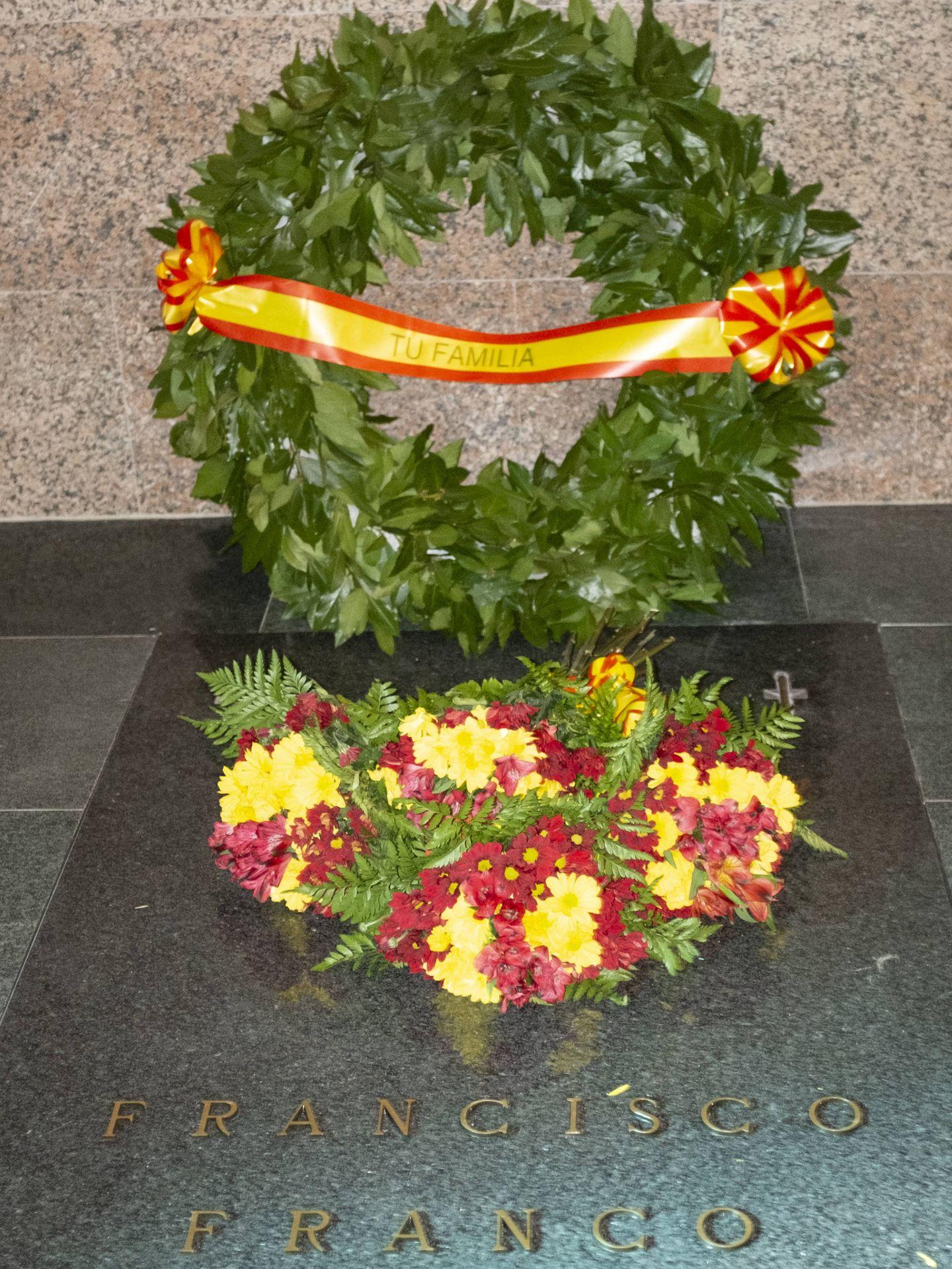 Tumba de Francisco Franco en Mingorrubio. (SEC)
