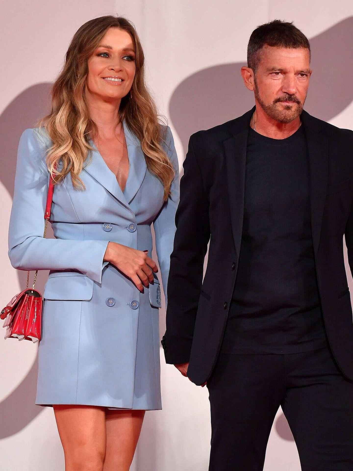 Nicole Kimpel y Antonio Banderas. (EFE)