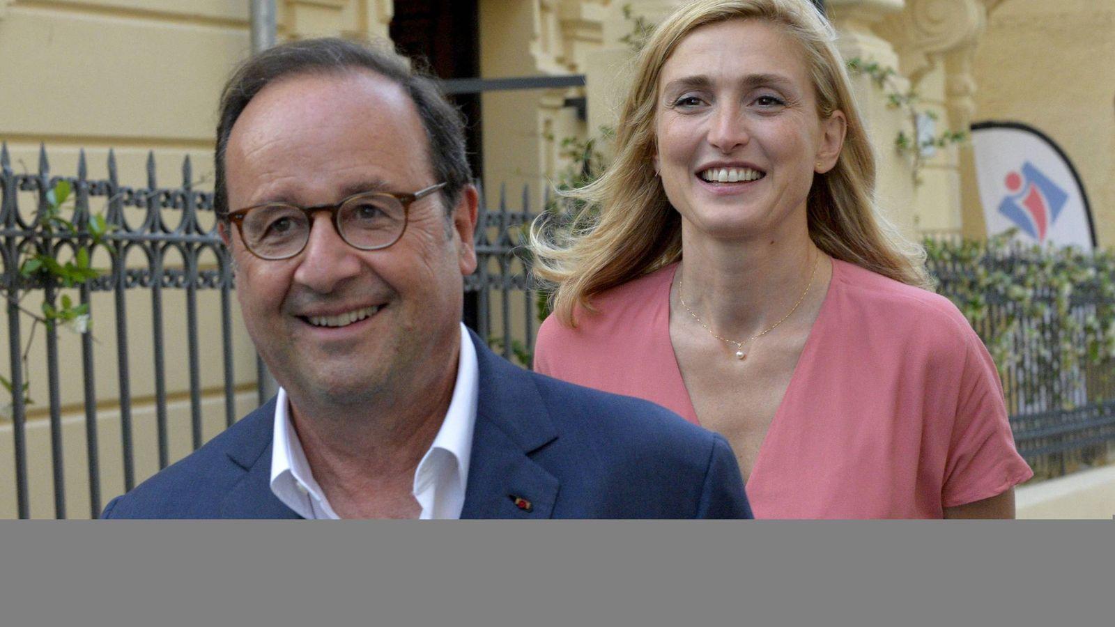 Foto: Hollande junto a Julie Gayet en Venecia. (Cordon Press)