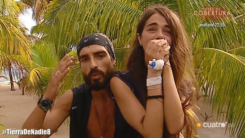 La reacción de Fabio a su despedida forzosa de Violeta en 'Supervivientes 2019'