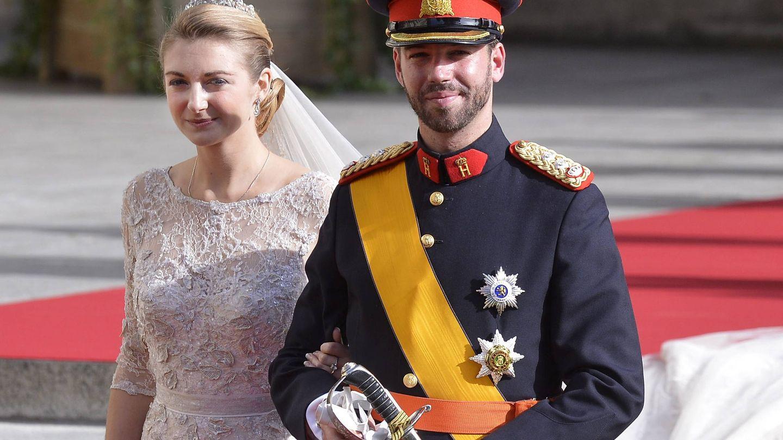 Los herederos el día de su boda. (Efe)