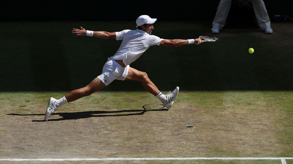 Foto: Djokovic, en su partido contra Anderson. (EFE)