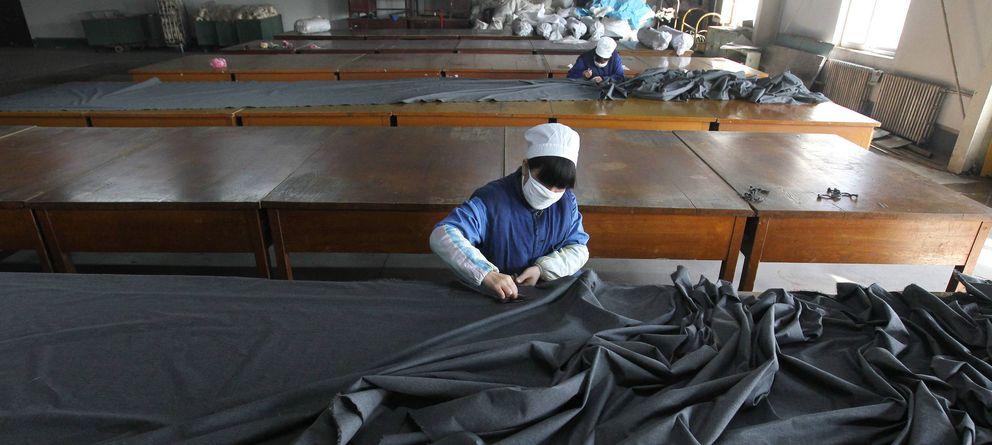 Foto: Fábrica textil en Pekín, China. (Efe)