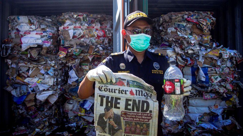 Foto: Indonesia devuelve a australia basura contaminada