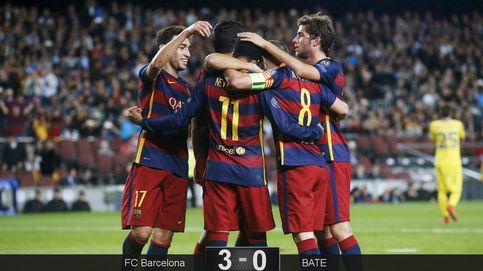 Un triunfo cuya historia serán las 'esteladas': el Barça, cerca de octavos