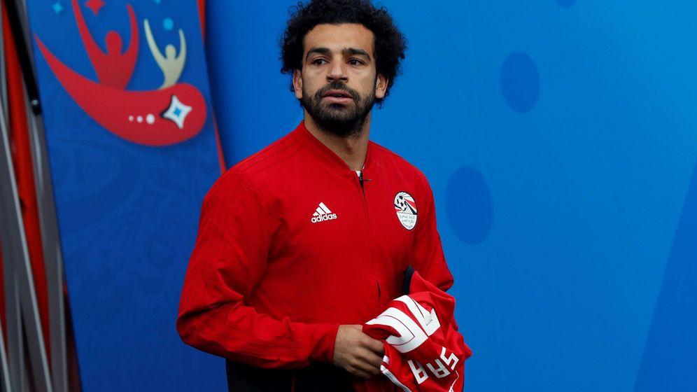 Foto: Mo Salah, un jugador que estuvo cerca de perderse el Mundial por una lesión. (EFE)