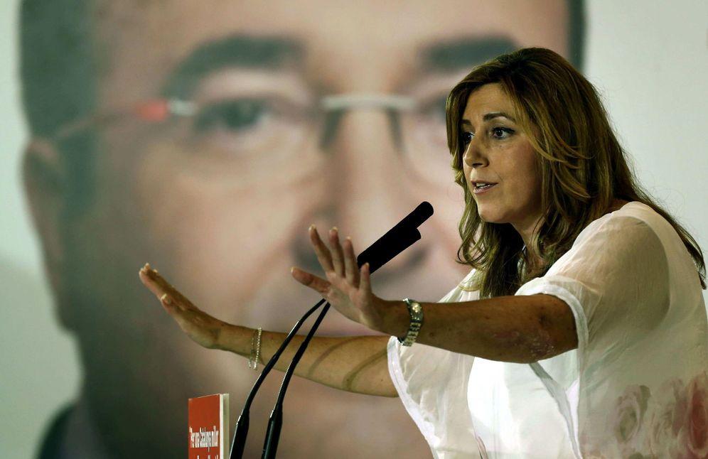 Foto: La presidenta de la Junta de Andalucía, Susana Díaz, en un mitin en Mataró en la campaña electoral del 27-S, el pasado 22 de septiembre. (EFE)