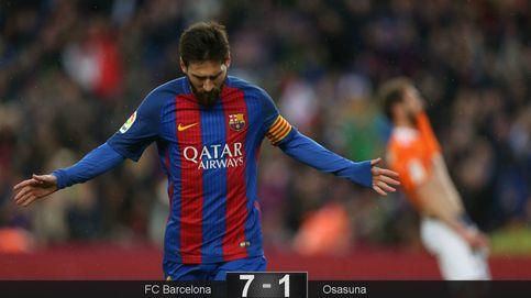 Messi engorda su expediente, Gomes se da una alegría y Osasuna desciende