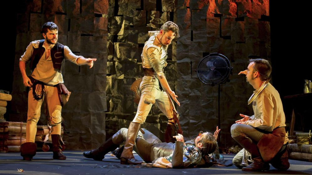 Foto: Una escena de la representación de 'En un lugar del Quijote'. (EFE)