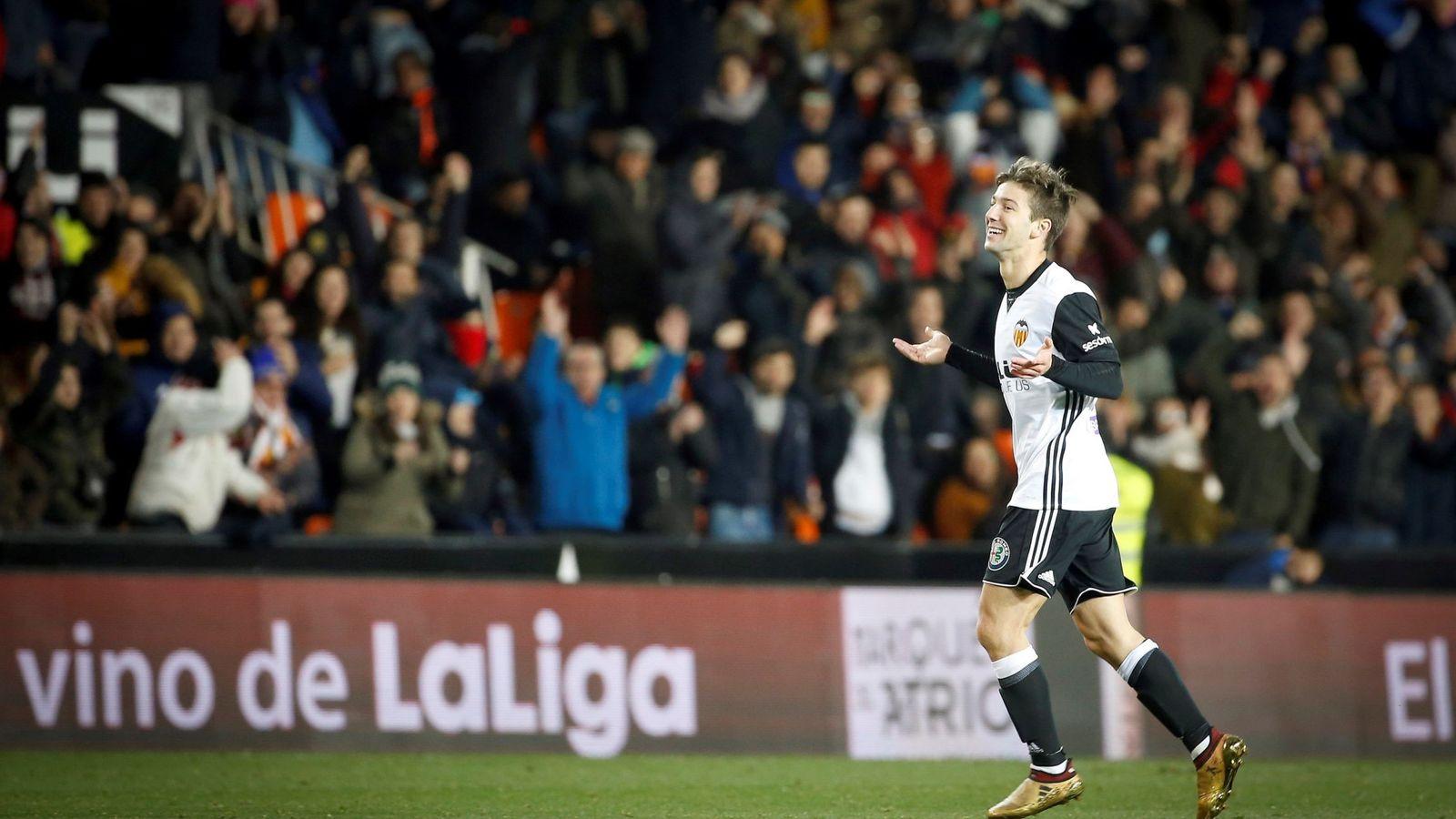 Foto: Vietto celebra uno de los goles marcados a Las Palmas. (Cordon Press)