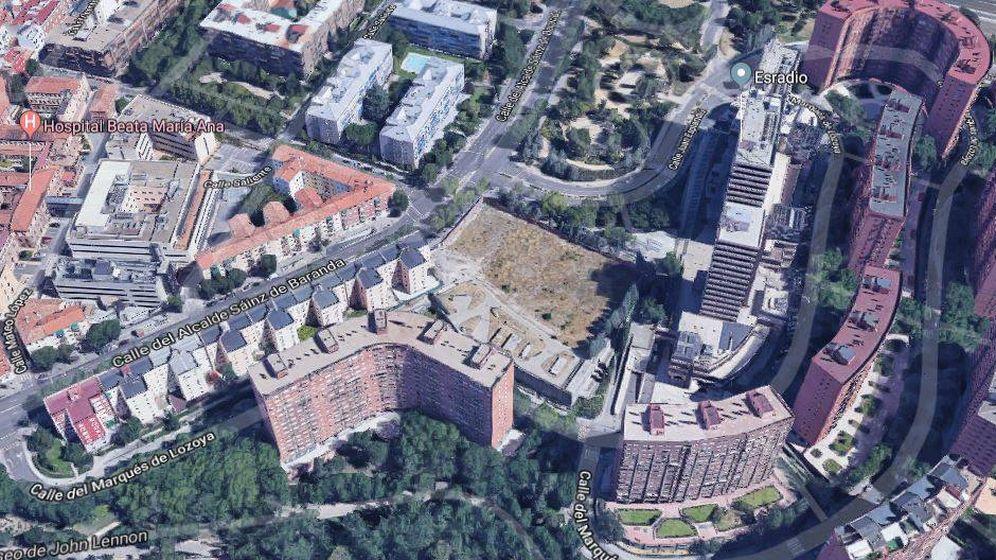 Foto: Solar a la venta de Iberdrola en Madrid. (Google Maps)