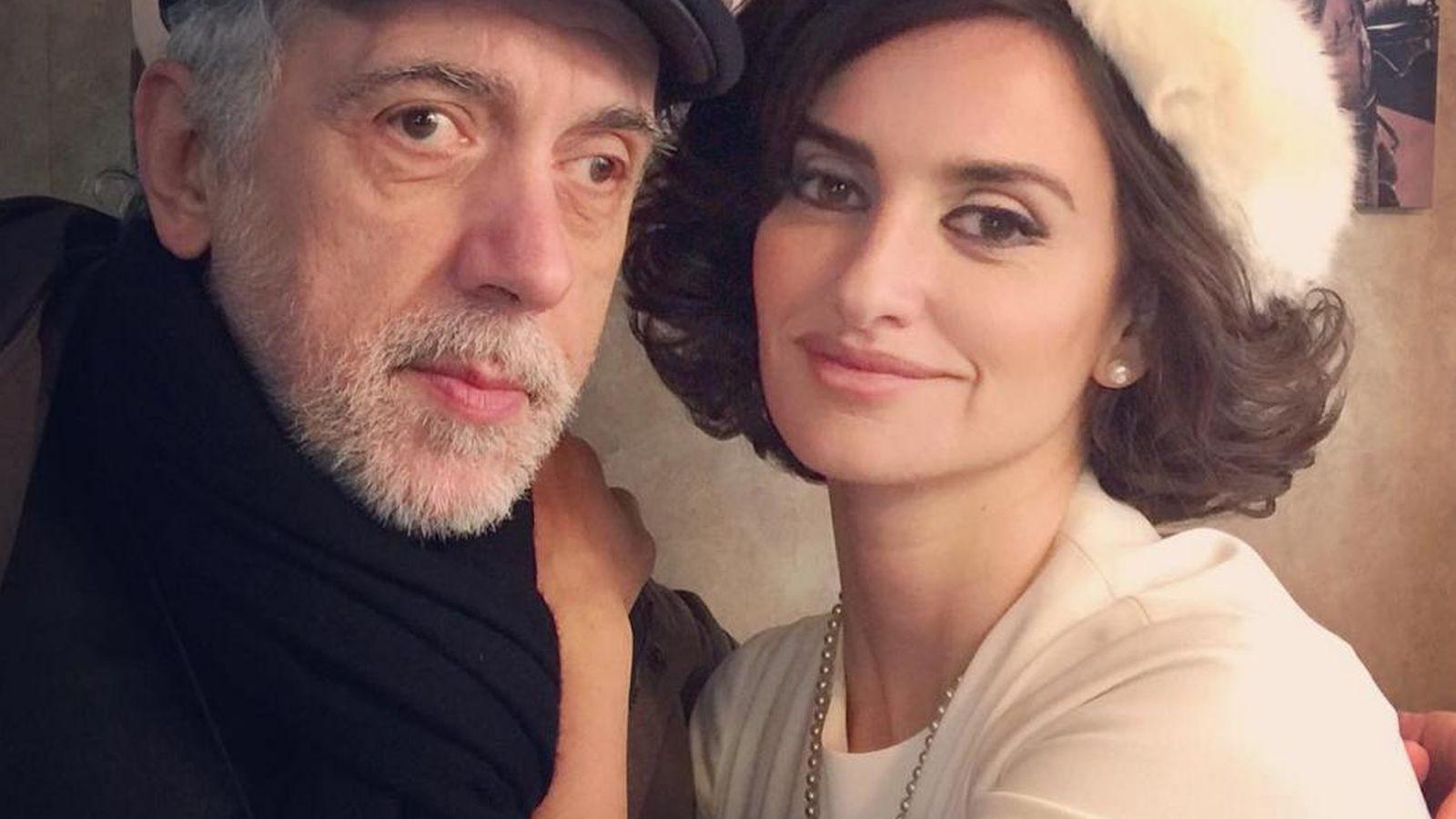 Foto: Fernando Trueba, junto a Penélope Cruz. (Instagram)