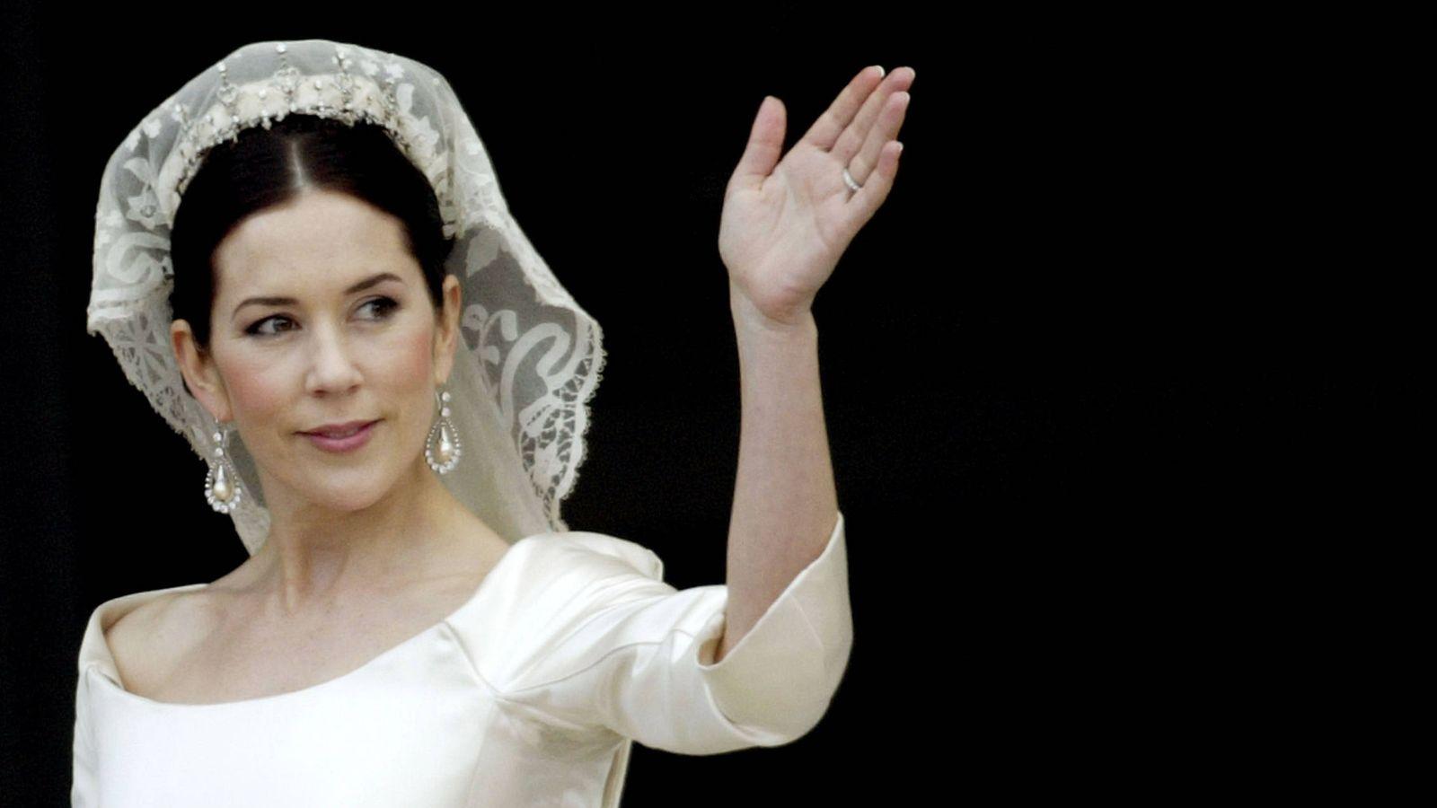 Foto: Mary de Dinamarca, el día de su boda. (Getty)