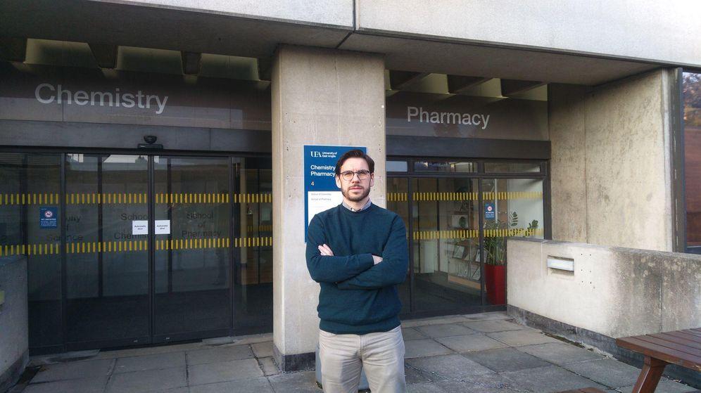 Foto: Miguel Hernáez, de la Universidad Pública de Navarra, investiga en sensores para detectar testosterona