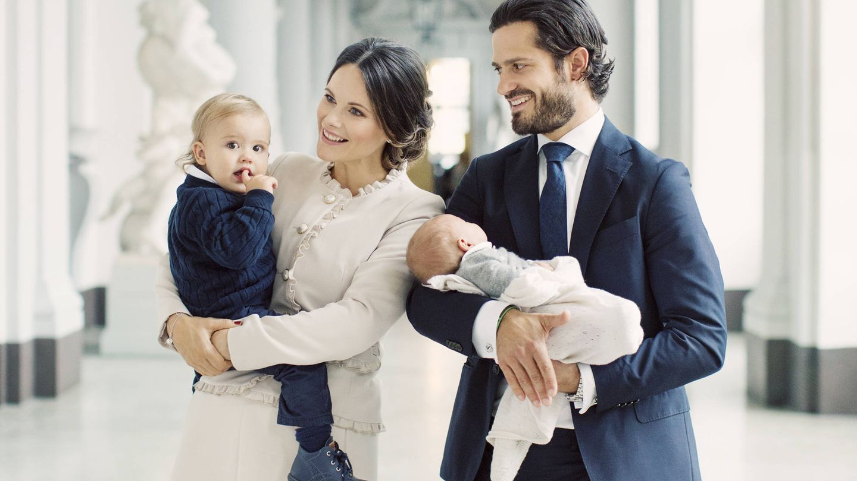 El príncipe Carlos Felipe con su familia. (Kungahuset)