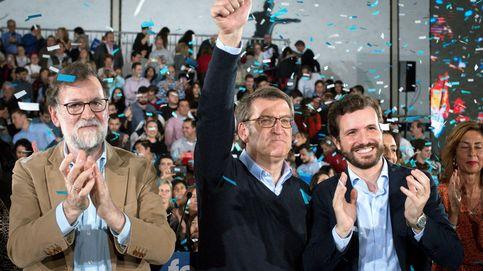 Casado y Rajoy arropan a Feijoó frente a la amenaza de la izquierda y el secesionismo