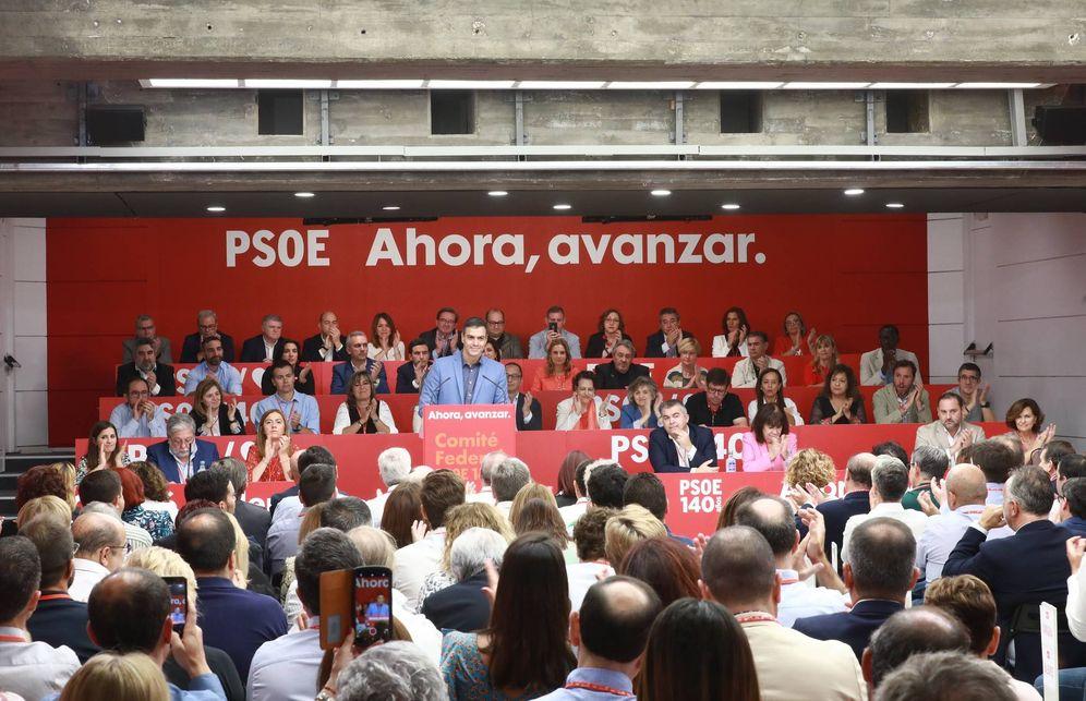 Foto: Pedro Sánchez, durante su última intervención ante el comité federal del PSOE, el pasado 28 de septiembre en Ferraz. (Inma Mesa | PSOE)