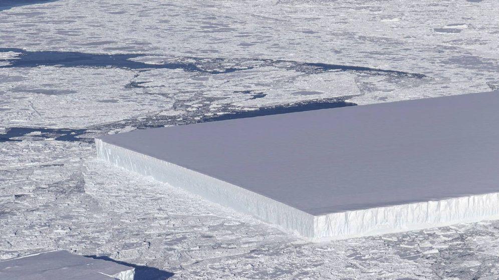 Foto: Parece una 'tablet' gigante, pero es un iceberg tabular. (Foto: NASA)
