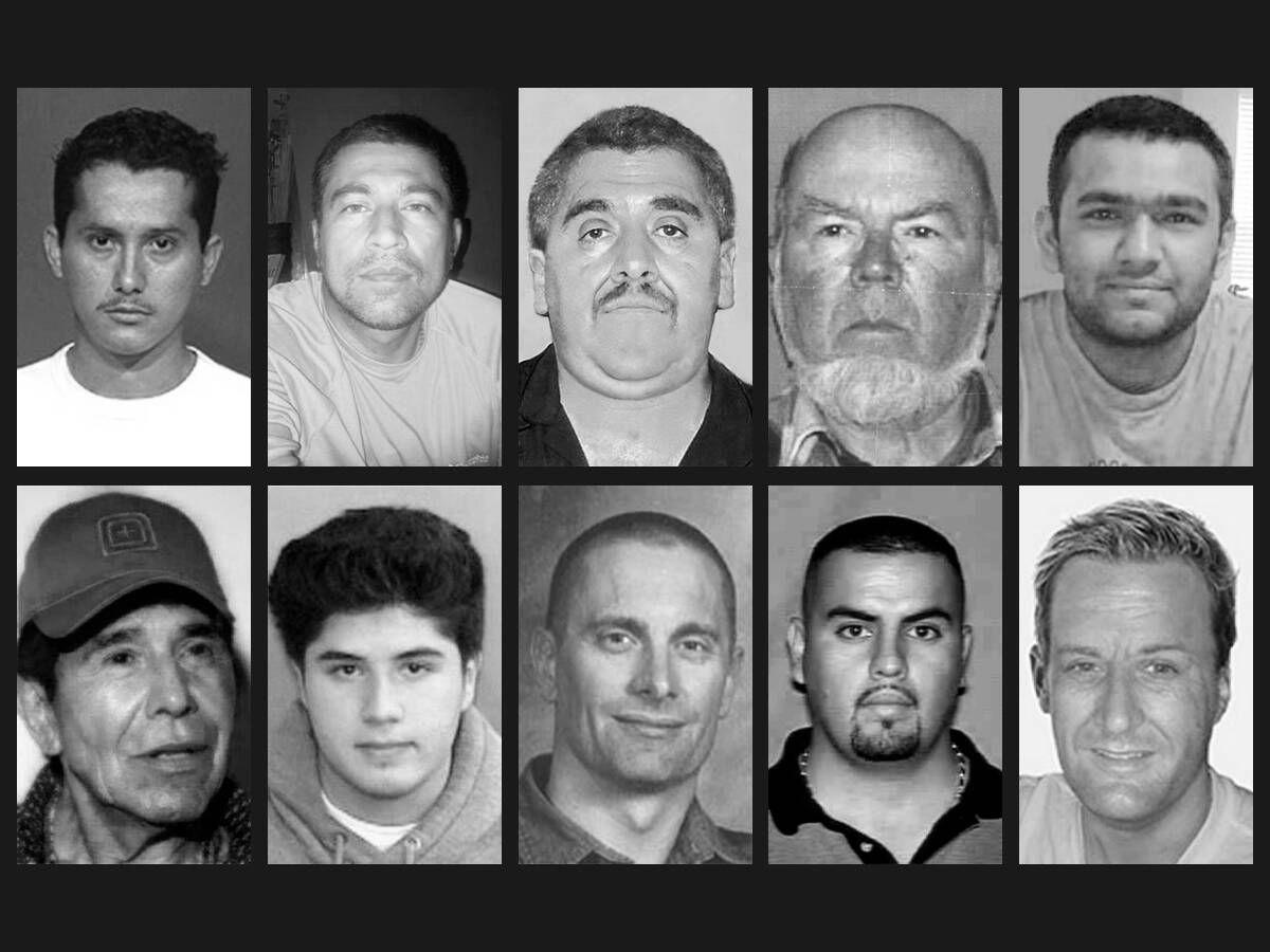 Foto: Los 10 fugitivos más buscados por el FBI. (EC Diseño)