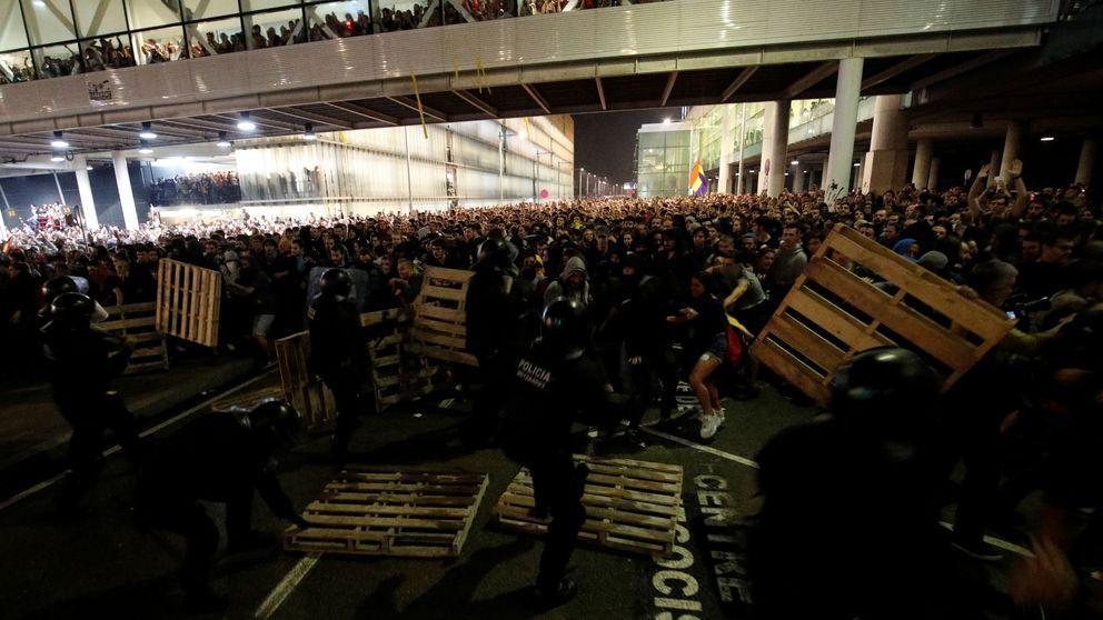 Las manifestaciones por la sentencia del 'procés' en vídeo: cargas y ataques