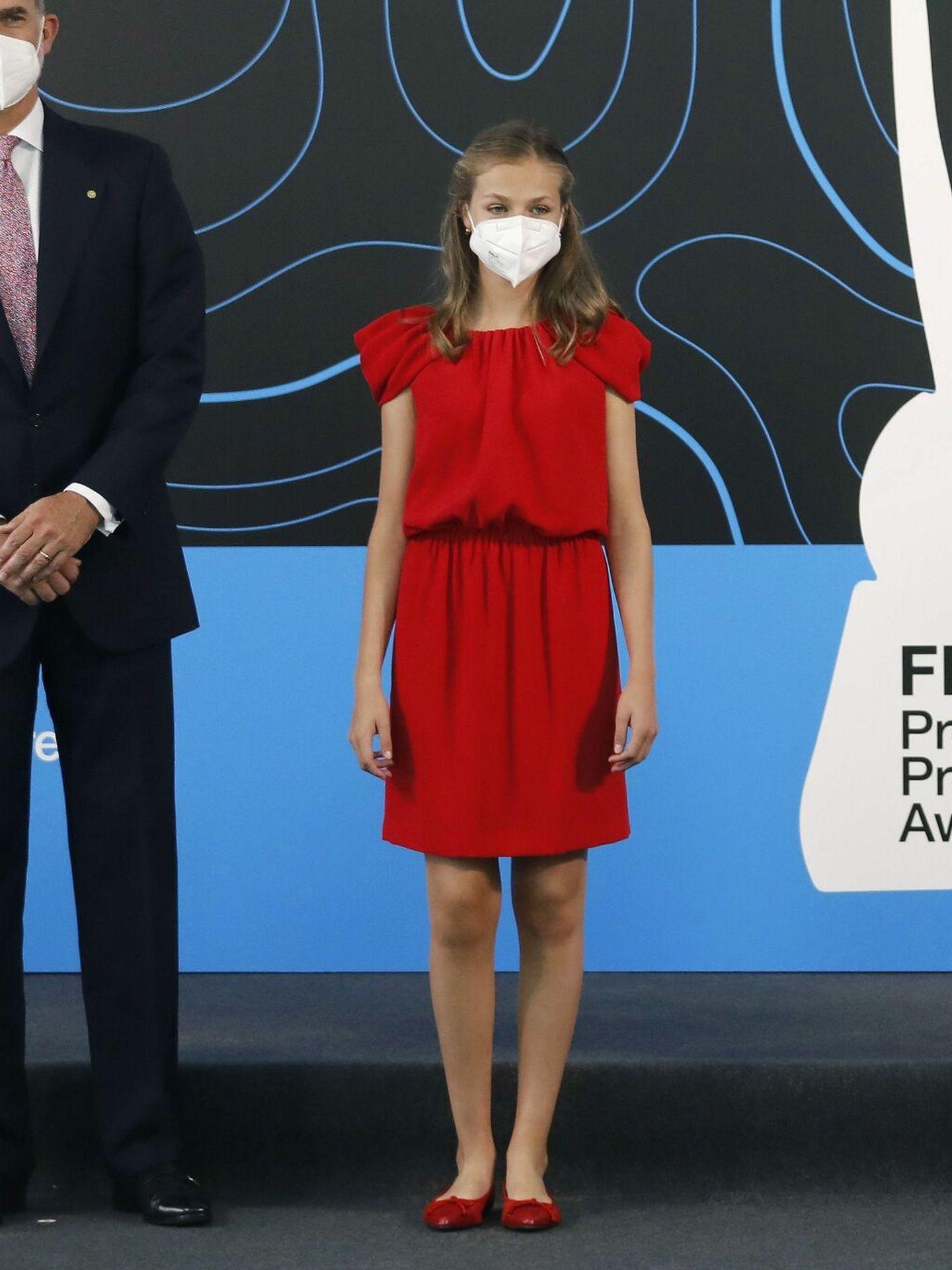 La princesa Leonor, en los Premios Pricnesa de Girona. (EFE)