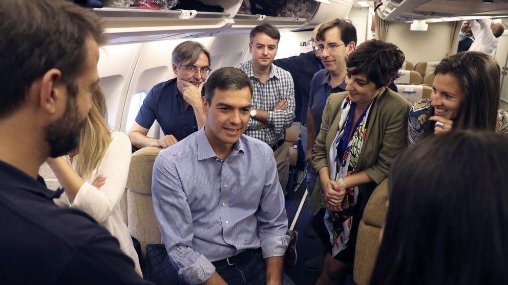 Sánchez alude de nuevo al secreto oficial para ocultar el coste de su gira americana