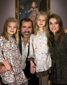 Foto: Felicitación de los Príncipes y las infantas