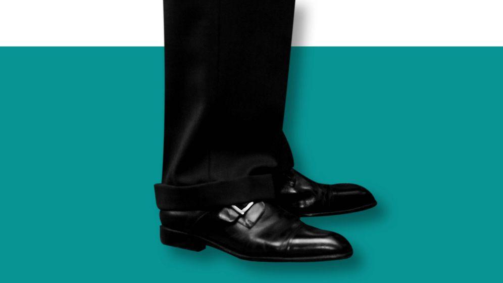 Foto:  Un detalle del calzado derby del Rey. (Imagen Vanitatis)