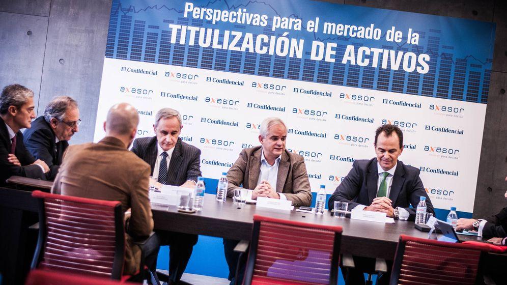 Foto: Mesa organizada por El Confidencial y Axesor 'Perspectivas para el mercado de la titulación de activos'.