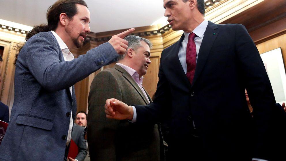 Iglesias se pliega a la política económica del PSOE y Sánchez al pacto social de Podemos