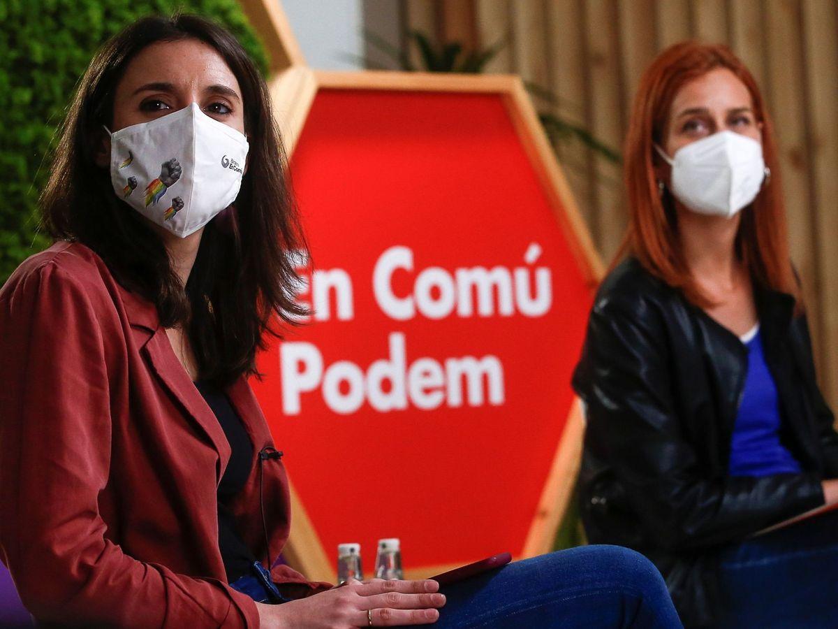 Foto: La ministra de Igualdad y la portavoz de los 'comuns', Jéssica Albiach. (EFE)