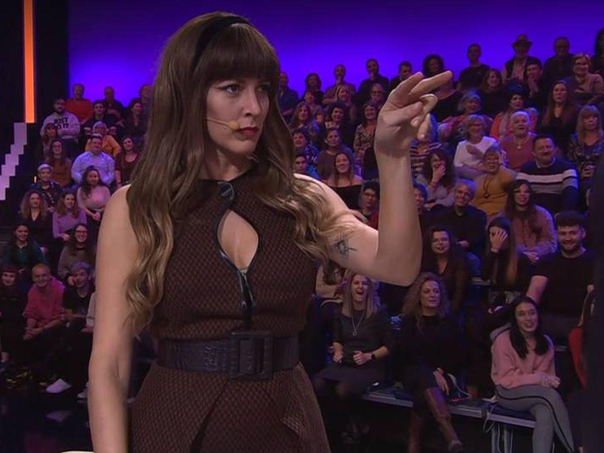 Foto: Rocío Madrid, en 'Tu cara me suena'. (Antena 3)