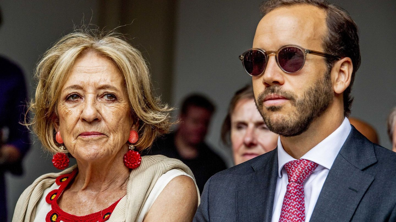 Juan Zorreguieta y Carmen Cerruti, en la celebración del Día del Príncipe en La Haya. (EFE)